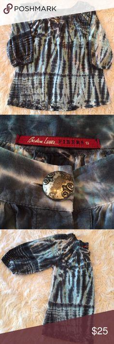 Barbara Lesser Boho tie dye Peasant Top Like new Vintage Tops Tunics