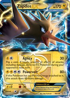 Zapdos EX Pokemon Card                                                                                                                                                                                 More