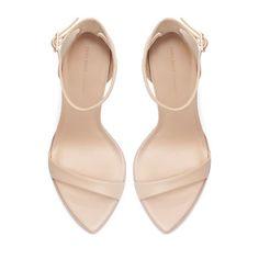 LEATHER SANDAL - Heeled sandals - Shoes - Woman | ZARA United States