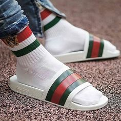 7ff9be0fa9d Gucci all day! Socks   flip flops available on our site now!
