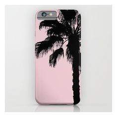 Palm Tree Silhouettes On Pink iPhone iPod Case ($39) ❤ liked on Polyvore featuring accessories and tech accessories