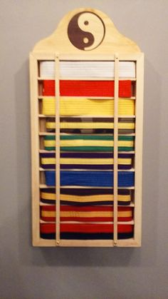 Martial Arts/Karate Belt display case by woodorwool on Etsy