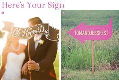Finishing Touches: 12 Creative Wedding Sign Ideas