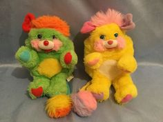 """Vintage 1980's #popple plush toy green yellow ##popples #vintage 1986 7"""",  View more on the LINK: http://www.zeppy.io/product/gb/2/262514161874/"""