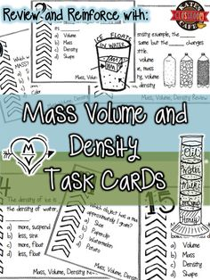 Density task cards along with note sheets and mini lab experiments.  Easy prep for you, lots of fun for them!