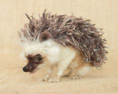 Stanely the Hedgehog: Needle felted animal sculpture