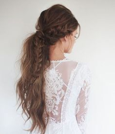 long+messy+braided+ponytail