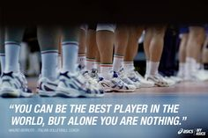 The Italian Volleyball coach on being part of a team. #betteryourbest