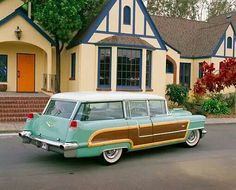1956 Cadillac Viewmaster Woody Station Wagon by Hess & Eisenhardt Cadillac Ats, Station Wagon Cars, Automobile, Woody Wagon, Vintage Trucks, Vintage Trailers, Us Cars, New Trucks, Rat Rods
