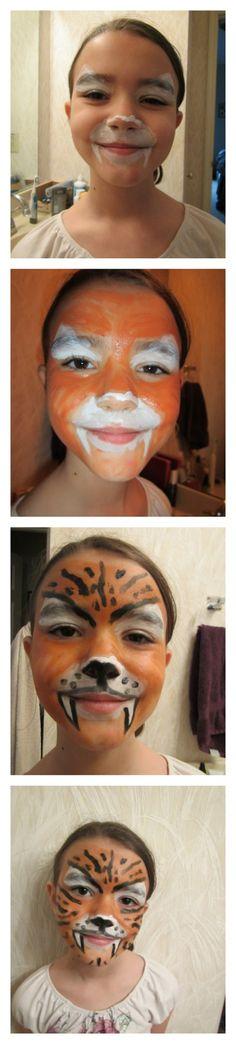 Face Paint Tiger Tutorial