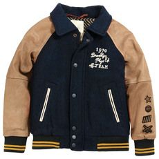 Scotch & Soda - College jacket with leather sleeves - 43937