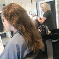 Got to love virgin hair! Swipe for before! #hairbykt #balayage #virginhair #seemless #goldwell #silklift