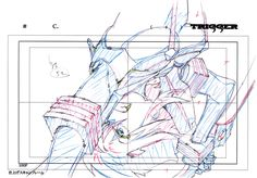 Kill la Kill (キルラキル)Key frames from the fight sequence between Ryuko and Satsuki, at the end of the first opening animation, were featured in the Kill la Kill Animation Originals Book Vol. Animation Storyboard, Animation Reference, Disney Animation, Art Reference, Drawing Cartoon Characters, Manga Characters, Cartoon Drawings, Fantasy Character Design, Character Inspiration