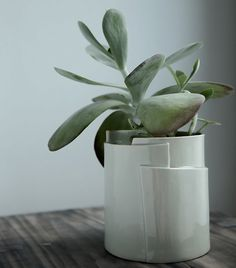 Large Hand Built Porcelain Planter - Tiered Collection //Sculptural and Functional Vessel for the Modern Home