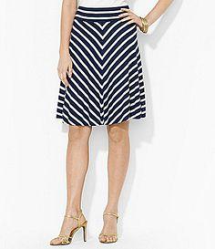 Lauren Ralph Lauren Striped Jersey Skirt #Dillards