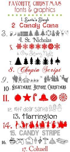 FREE Christmas Fonts and Graphics found at { lilluna.com }