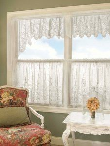 #Lace Curtain Panels, Country Style