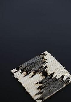 Match sticks made useful  http://blog.freepeople.com/2014/01/diy-matchstick-coasters/