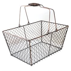 The Lucky Clover Trading Co: LOTS of inexpensive baskets, trays and storage items...this metal basket is only $5.75!