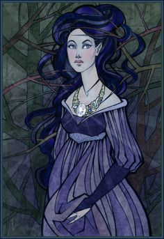 It is said and sung that Luthien wearing that necklace and that immortal jewel was the vision of greatest beauty and glory that has ever been outside the land of Valinor.