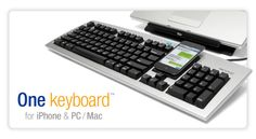 The Matias One Keyboard....one keyboard for your Mac and iPhone or Blackberry...type on your Mac/PC and iPhone simultaneously....