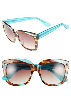 kensie+'Colette'+53mm+Studded+Retro+Sunglasses+available+at+#Nordstrom