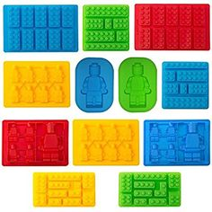 Amazon.com: TYH Supplies Set of 12 Candy Molds For Lego Lovers Chocolate Molds Ice Cube Molds Silicone Baking Molds Premium Silicone Molds - Building Blocks and Robots (12): Kitchen & Dining