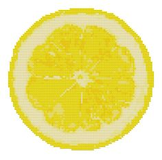Cross Stitch Pattern - Lemon Fruit - Modern Cross Stitch PDF Chart. $5.00, via Etsy.
