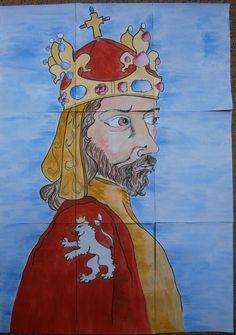 plakát k vytvoření skládacích obrázkových kostek - Karel IV