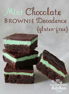Mint Chocolate Brownie Decadence