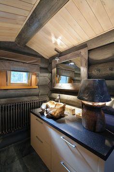 Интерьер деревянного дома из бревна в Подмосковье -1