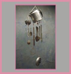 1000 images about other chimes and silverware crafts on for Wind chimes out of silverware