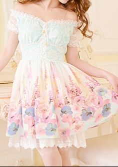 pastel dress | http://bonbonbunny.com/categories/hime