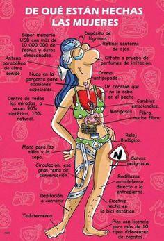 Foto para tu estado de facebook o google +: De que estan hechas las mujeres http://www.xdlol.com/2014/03/de-que-estan-hechas-las-mujeres.html