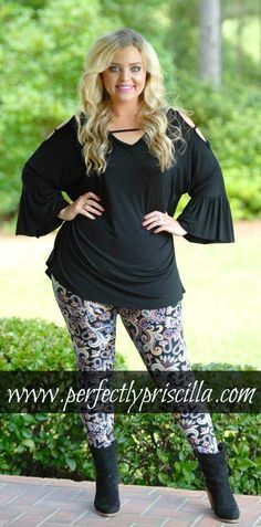Perfectly Priscilla Boutique is the leading provider of women& trendy plus size clothing online. Our store specializes in one of a kind, plus size clothes. Plus Size Clothing Online, Trendy Plus Size Clothing, Plus Size Outfits, Plus Size Fashion, Plus Size Leggings, Black Leggings, Casual Fall, Casual Wear, Perfectly Priscilla Boutique