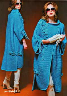 Coat in the style of Boho Svetlana Wolfhound. Crochet Coat, Crochet Jacket, Crochet Cardigan, Knit Jacket, Crochet Clothes, Zhurnal Mod, Knitwear Fashion, Crochet Fashion, Raglan Pullover