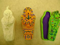LCMS ~Middle School Clay Sarcophagus Clay Projects For Kids, Crafts For Kids, Arts And Crafts, Art School, School Stuff, School Ideas, Ancient Egypt Crafts, Egyptian Artwork, Clay Classes