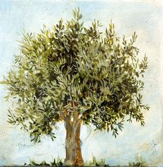 One Stroke Painting, Painting & Drawing, Bullion Embroidery, Drawing Sketches, Drawings, Tag Image, Mediterranean Garden, Olive Tree, Bible Art