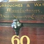 Mahogany Burroughes and Watts scoreboard.B540 | Browns Antiques Billiards and Interiors.