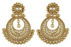 Much More Amazing Style Kundan Stone Polki Indian Earrings Wedding Wear Jewelry