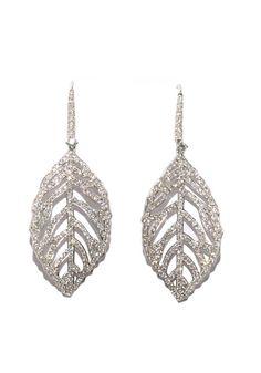 3.05ctw Pave Diamond Leaf Drops at osterjewelers.com