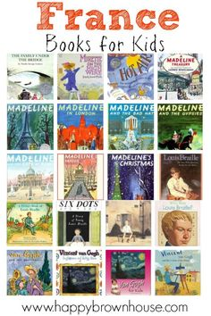This list of France Books for Kids has the best of life in France, famous artists and people, and adorable picture books that beg to be read on the couch snuggled up together. Thisis perfect for a France unit study.