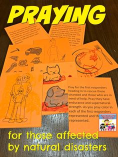 We are inundated by news of those hurt by natural disasters, and we don't know what to do, but we can always pray. These prayer stations will guide you. Family Bible Study, Bible Study For Kids, Bible Lessons For Kids, Kids Bible, Sunday School Curriculum, Sunday School Activities, Sunday School Lessons, Bible Resources, Bible Activities