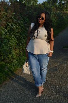 Plus Size Fashion - Plus Size Outfit - Supersize my Fashion: The Jeweled Peplum