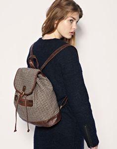 ASOS Tweed Wool Mix Buckle Backpack. $48.27