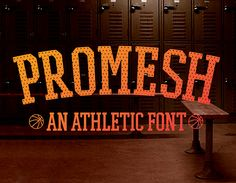We're so delighted so share with you a Free Font – Promesh. It's a unique athletic font that brings back memories of old American basketball. It is impressive and unconventional.