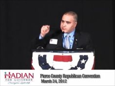 """Shahram Hadian, Christian pastor and former Muslim, is the conservative, courageous choice for Governor in Washington State! For more information on the Hadian for Governor campaign, please visit www.Hadian2012.com.    """"Washington needs courageous leadership, and my heart is to speak the truth, which may make this one of the most politically incorrect campaigns ever run."""" -Shahram Hadian"""