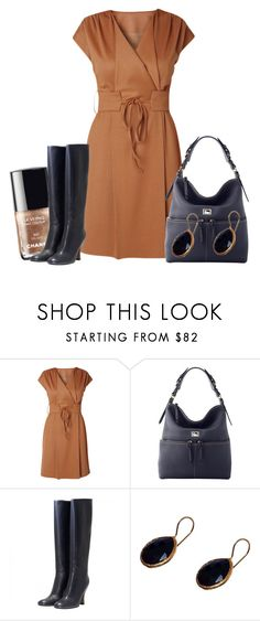 """""""Wrap Dress #2"""" by ljjenness ❤ liked on Polyvore featuring Raxevsky, Chanel, Dooney & Bourke, Marni and Coralia Leets"""