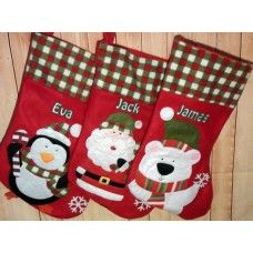 Personalised Christmas Stockings - names added as shown
