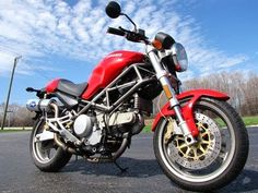 2001 Ducati Monster 750 Red Indigo Exhaust 10,175 Miles   http://www.usedmotorcyclesandparts.com